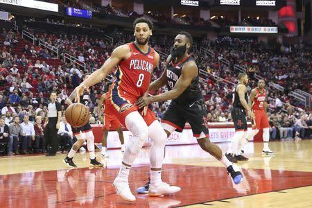4ce2034ca6e6 NBA roundup  Pelicans win but Rockets  Harden extends streak