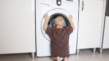Mother's warning goes viral after three-year-old locks herself in washing machine