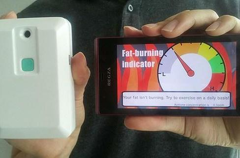 NTT DoCoMo's prototype breathalyzer knows if you're burning fat, could toughen-up boot camp