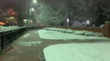 Winter Storm Brings Blanket of Snow to Raleigh, North Carolina