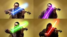 Teen Violinist Nails 'Star Wars' Theme Song With Lightsabers