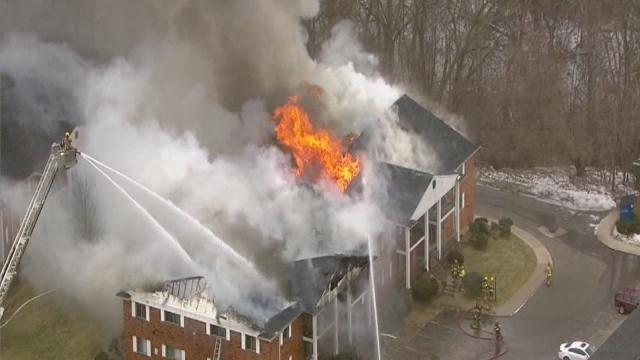Fire destroys Plymouth Township apartment building