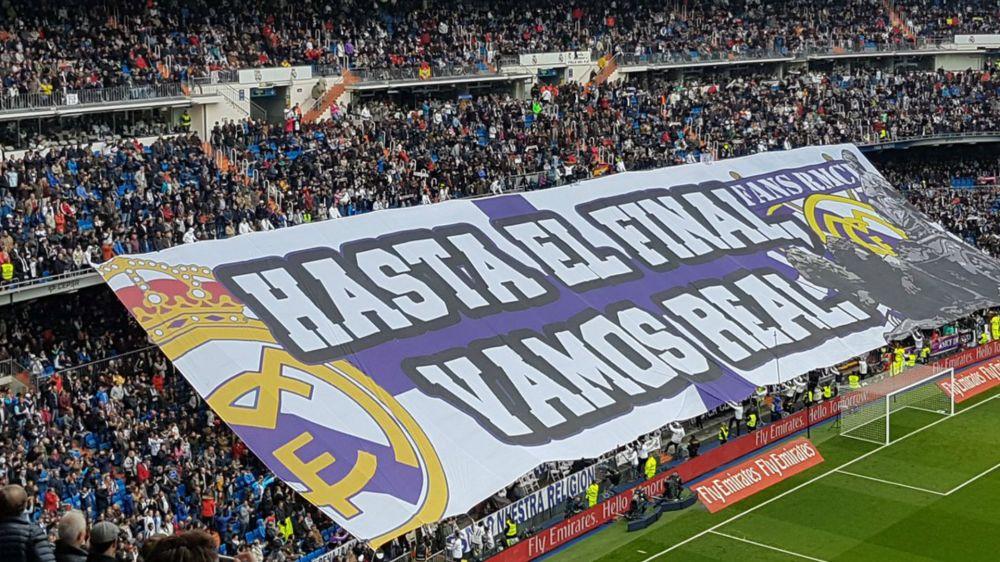 El Bernabéu presentó un nuevo tifo para animar al Real Madrid