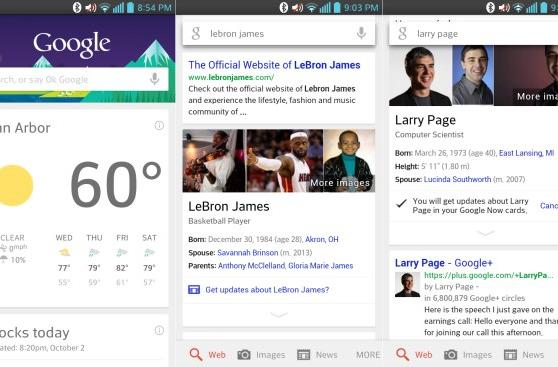 Google Search for Android gets Now cards for notable people, new voice search hotword