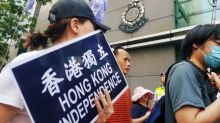 Hundreds protest over Hong Kong's move to ban separatist political party