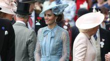 Mit Punkten und Schleife: Herzogin Kate bringt Ascot zum Strahlen