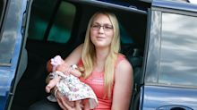 This baby's dramatic birth in the back seat of a car was captured on dash cam