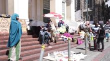 Refugee protesters remain holed up at the Central Methodist Mission church in Cape Town