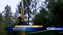 PG and E prepares foothills for storm
