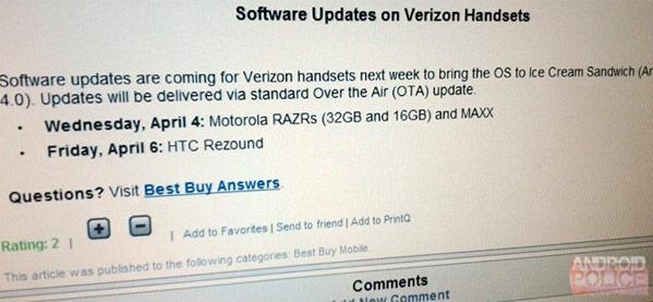 Verizon's Droid RAZR and RAZR MAXX to get Android 4.0 on April 4th, Rezound to follow on the 6th (updated)