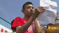 Saul Arrelano, 14, leads Fourth of July immigration rally