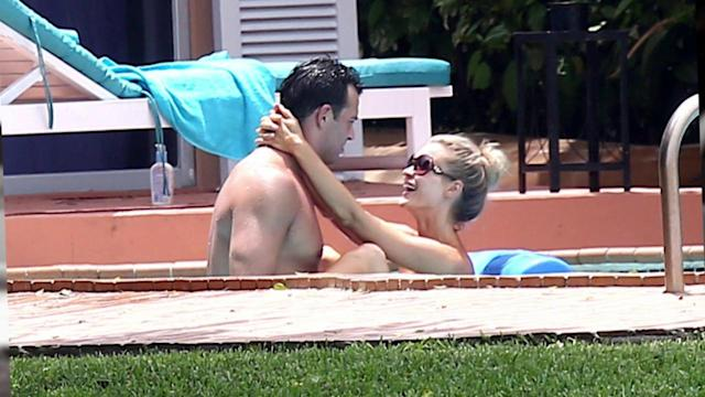 Joanna Krupa Gets Topless By The Pool