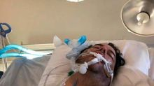 Florida father battling Covid-19 after son met friends and infected whole family