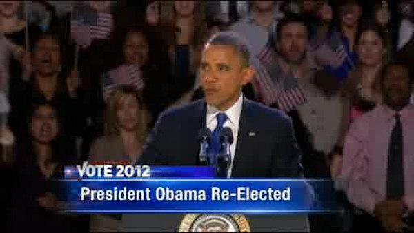 President Obama re-elected for 4 more years