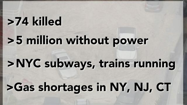 Sandy's aftermath: The latest stats