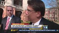 Governor Pat McCrory comments on Cannon's arrest
