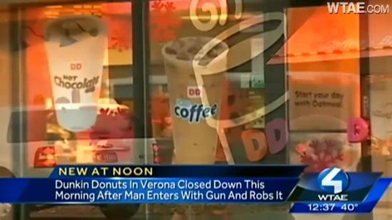 Dunkin' Donuts robbed in morning rush hour