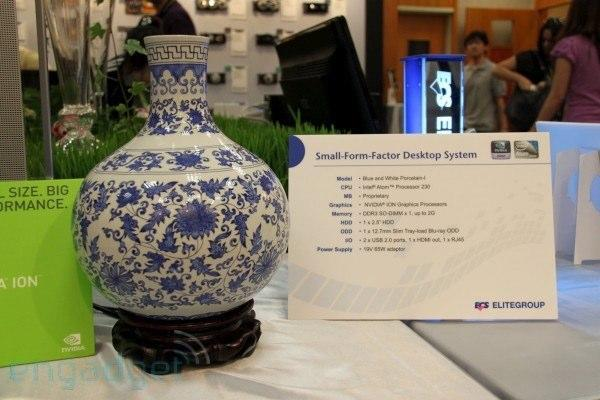 ECS stuffs Atom, ION and Blu-ray into a vase for all the right reasons
