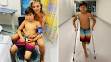 Mum's warning after son 'taken down' by fish on Christmas Day