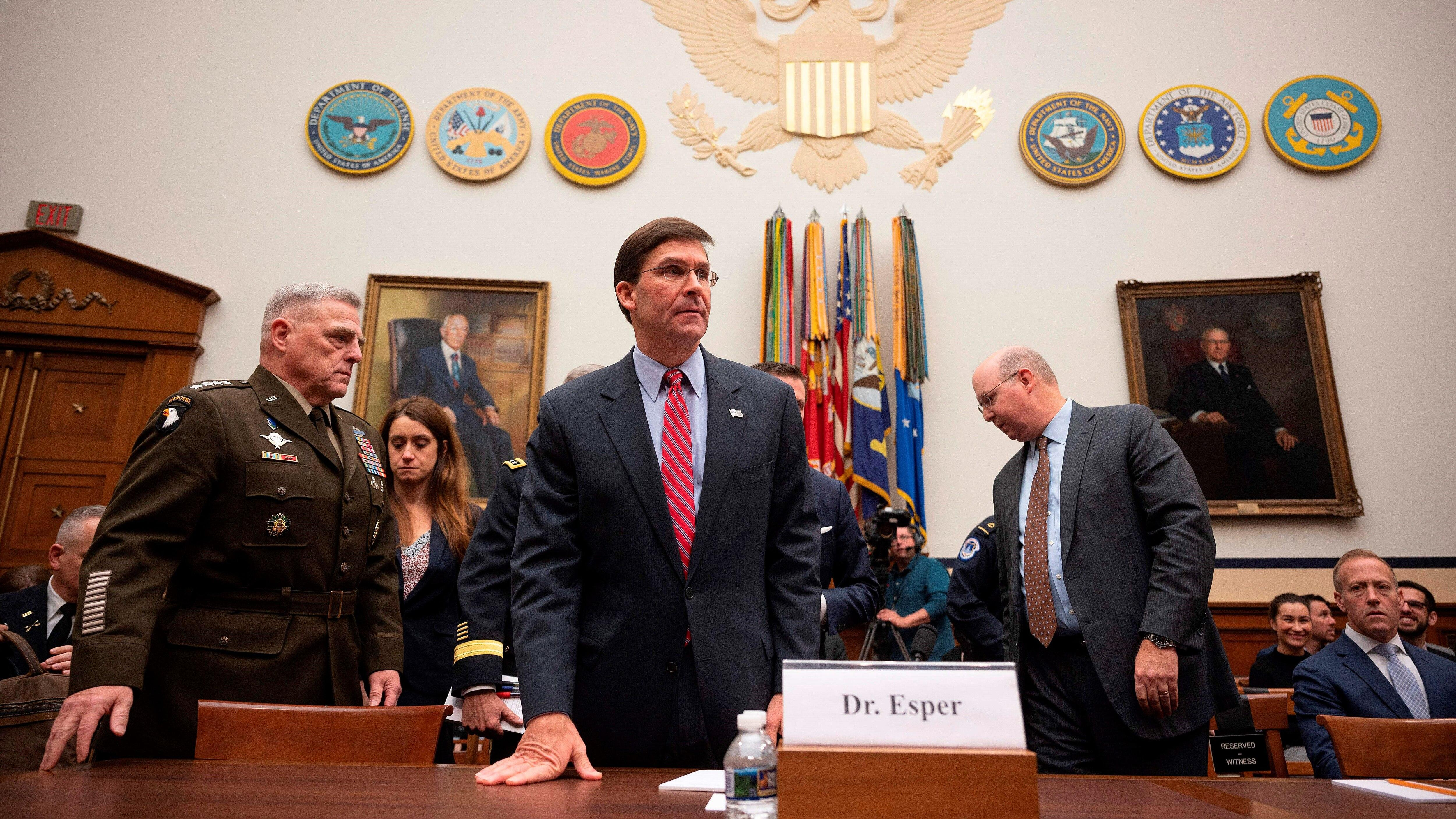 Defense committee chairman expresses 'profound frustration' with Esper
