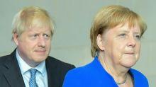 During Johnson visit, Merkel voices hope on avoiding Brexit chaos