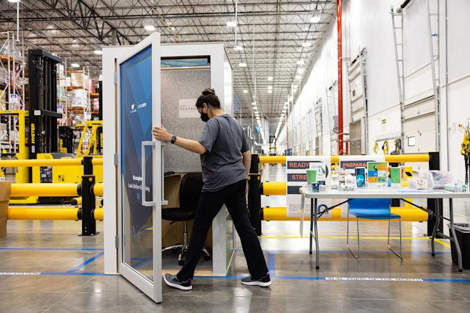 Amazon unveils box-like 'ZenBooth' for warehouse worker meditation