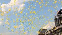 Graduates Show National Pride With Balloon Release