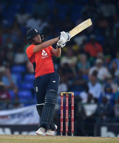 Jonny Bairstow in action during England v West Indies - 3rd Twenty20 International