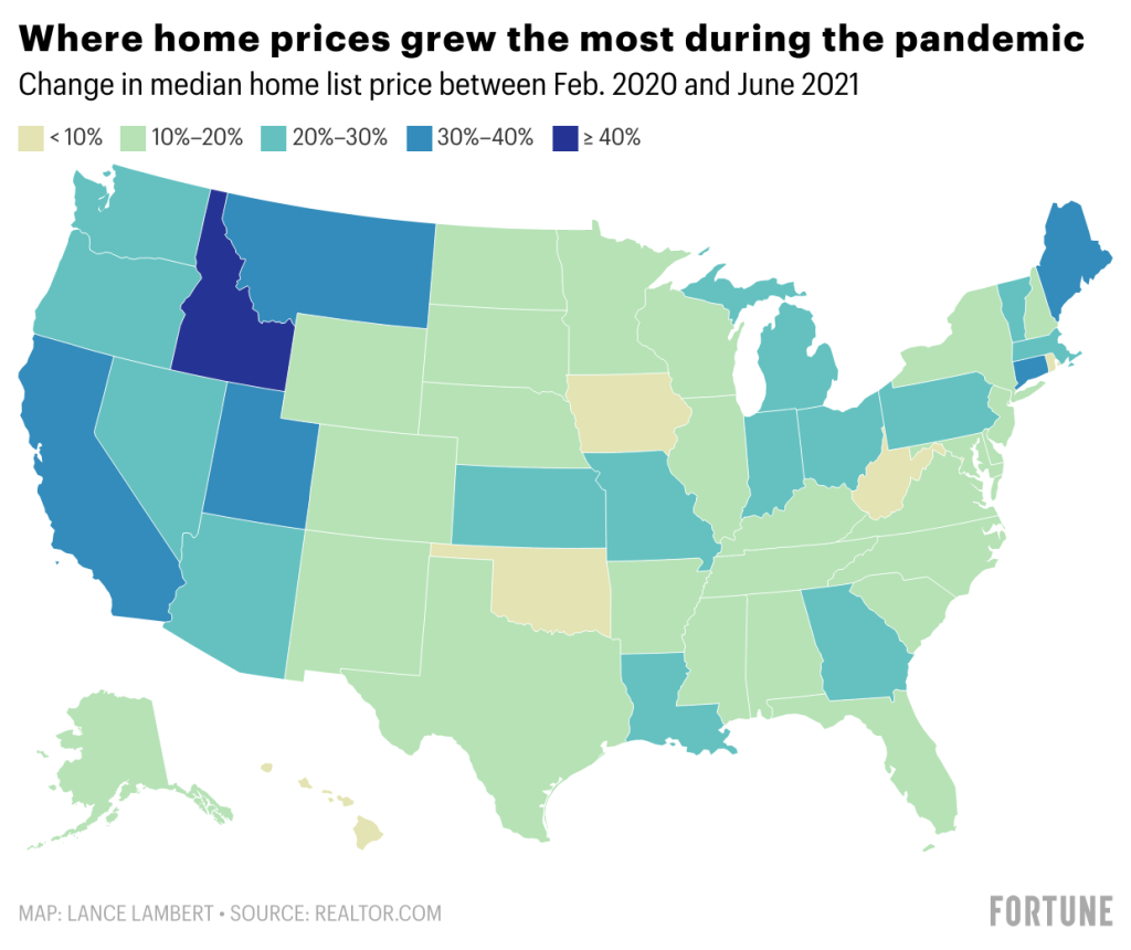 Home prices are rising faster than ever before. See how your state is doing