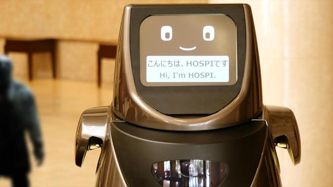 Panasonic's delivery robot will sling drinks and clear tables