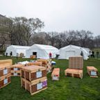 An emergency field hospital to treat COVID-19 patients is opening in NYC's Central Park
