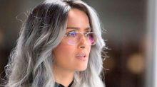 ¡Qué moderna! Salma Hayek se pasa a la moda del cabello gris