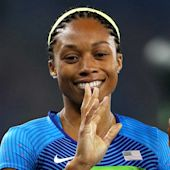Allyson Felix loses out on women's 400 gold in wild photo finish