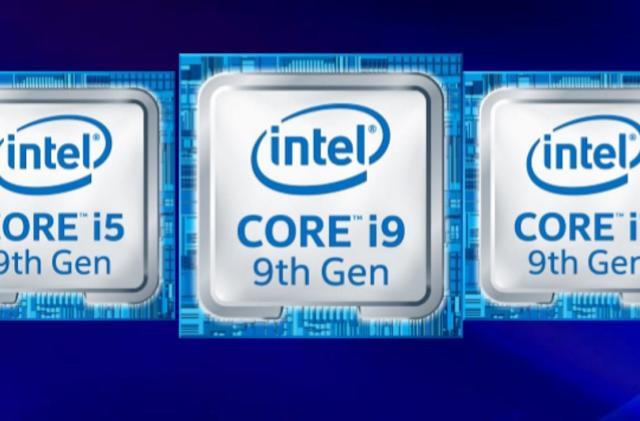 Intel's 9th-gen laptop CPUs also reach up to 5GHz