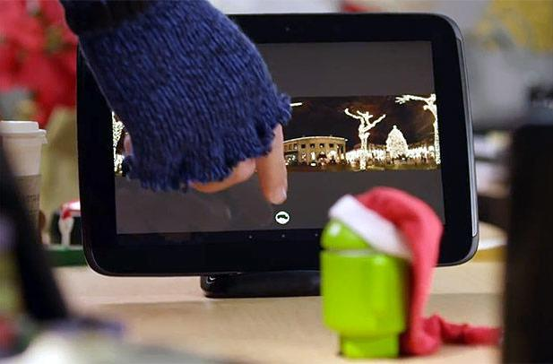 Google's 'Happy Holidays from Android' gets you in the spirit with an unannounced Nexus 10 dock (video)