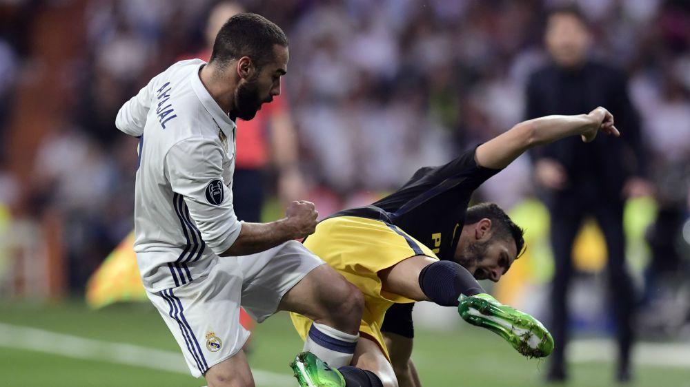 Carvajal, lesionado en el Real Madrid - Atlético