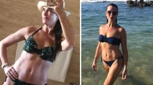 Brooke Shields, 54, flaunts abs in bikini on New Year's holiday