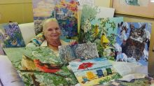 Grandma on bed rest delights social media with her stunning paintings
