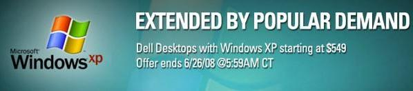 Dell pushes back desktop XP cutoff date to June 26