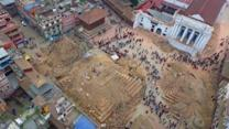 Drone Footage: Nepal Earthquake Damage in Katmandu