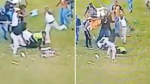 Shocking video shows female security guard brutally attacked