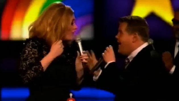 Adele flips the bird at the BRIT Awards