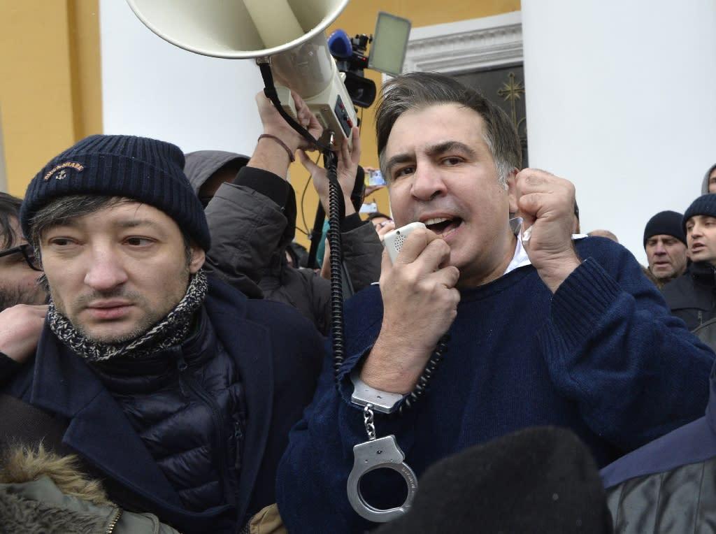 Former Georgian president Mikheil Saakashvili has criticised Ukrainian President Petro Poroshenko for failing to fight high-level corruption