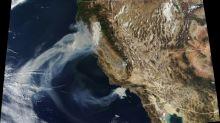 La furia de los incendios en California vista desde el espacio