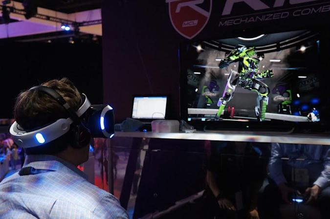 Morpheus mech game 'Rigs' uses color to make VR less overwhelming