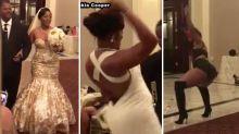 Bride's next-level wedding moves go viral