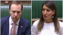 Backlash as Matt Hancock tells Labour minister to 'watch her tone' over coronavirus criticism