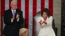 Nancy Pelosi sarcastically clapping Donald Trump becomes instant viral hit