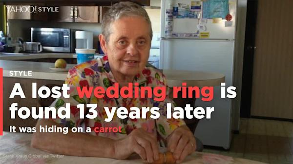 20d0a0bb378756 Funnily enough, this is the second time a lost ring has been found on a  carrot