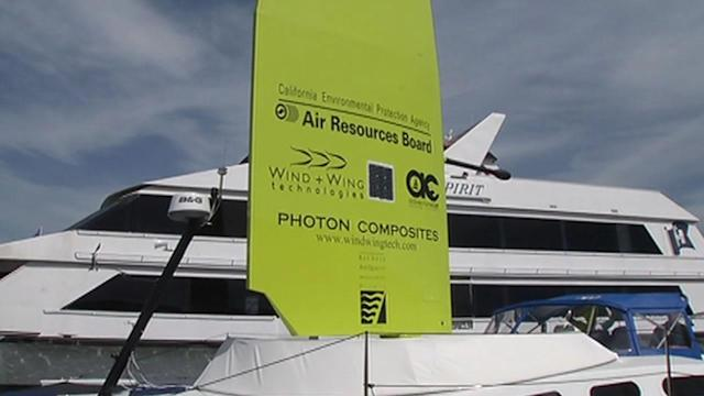 One-of-a-kind sail could power ferry boats